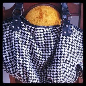 Houndstooth Hobo Bag